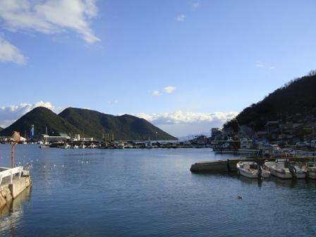 祖父母宅近くの瀬戸内海の風景