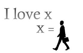 I love x X=人